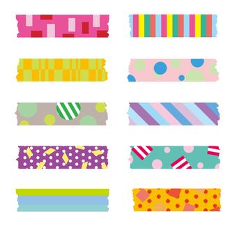 Masking tape illustrations
