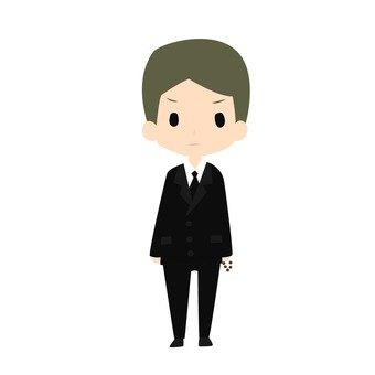 Black suit men