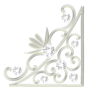 Luxurious Platinum Diamond Frame 02