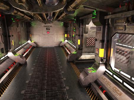 旧式宇宙船の船内通路