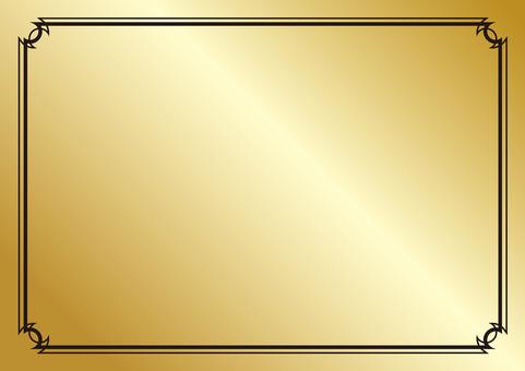 Gold background picture ☆ Black Border Border Frame ver