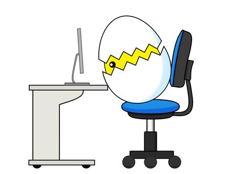 Desk work Bad posture forward