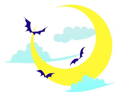 Moon bat white