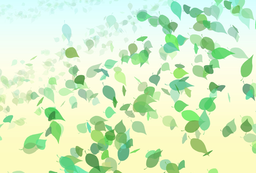 Green leaf dancing (banana)