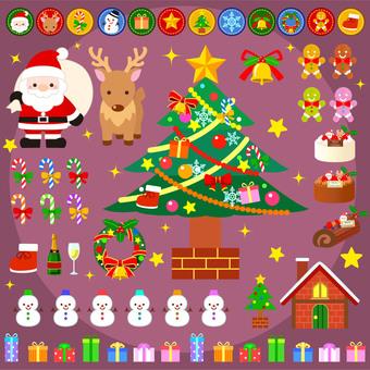 Christmas material set