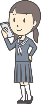 初中水手女人-061-全身