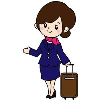一個穿著西裝的女人,帶著手提包