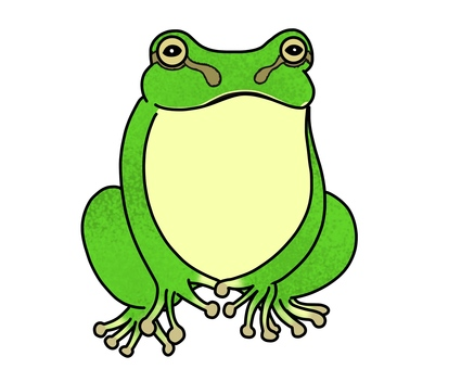 Illustration of simple tree frog