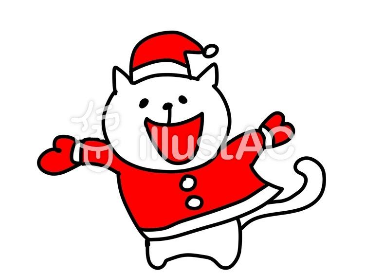 クリスマス 猫 イラスト No 616372無料イラストならイラストac
