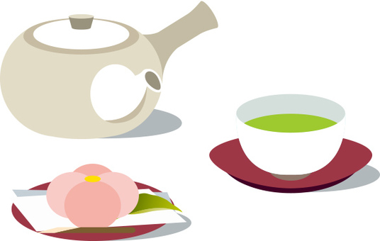 Tea and Japanese confectionery