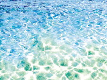 海波模様水面海面背景プールリゾート南国枠
