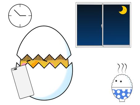 Smartphone addiction 3 Rice No egg eat egg