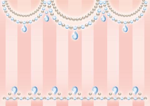 Pearl and diamond card