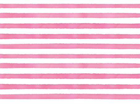 Watercolor border sideways pink