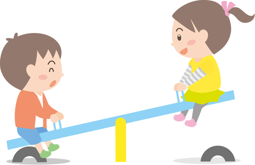 Children's seesaw