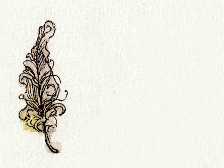 Background hand drawn vintage feathers