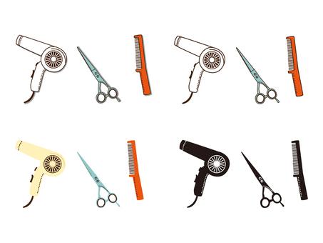 Hairdressing & amp; Hair Makeup illustration
