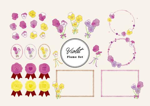 Three-color violet frame set