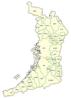 Map of Osaka Prefecture