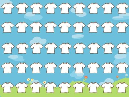 t 셔츠의 프레임 (푸른 하늘) (45 인분)