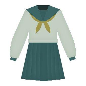 White sailor suit