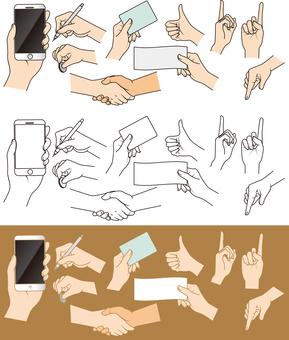 一隻手的例證