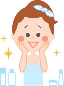 Women who are doing skin care glitter