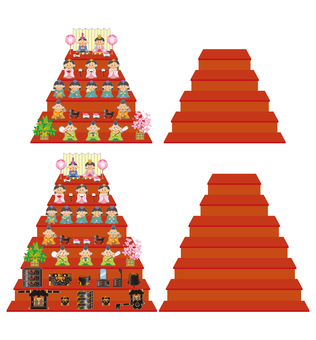 Hina dolls (five rows / seven steps) Set