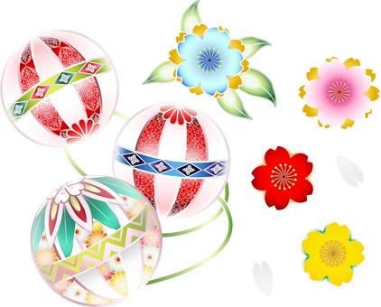 ai Japanese style ball and cherry set 2