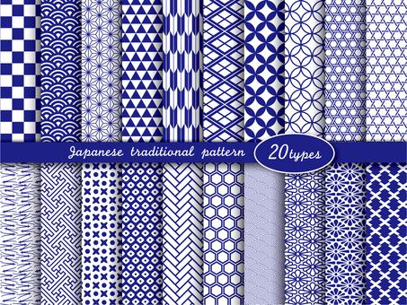 日本の伝統模様スウォッチ20種.1