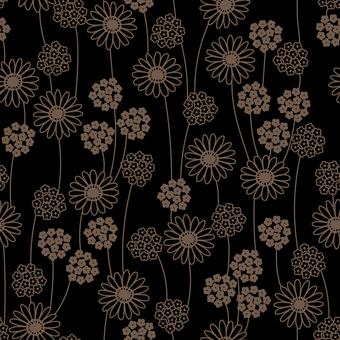 Small flower pattern 02 (black)