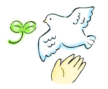 Bird and hand fluttering 2