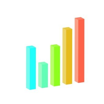 3D solid bar chart 4