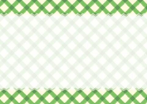 チェックのカード(緑)
