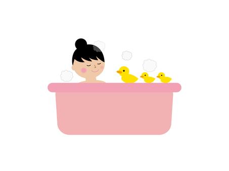 Illustration of bath