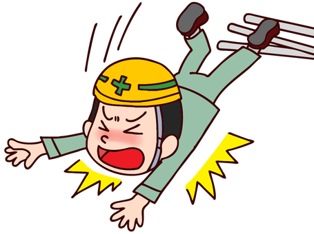 Illustration of occupational accidents (falls)