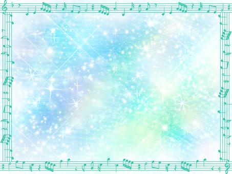 Glittering dazzling note frame