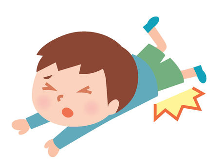 Boys fall down