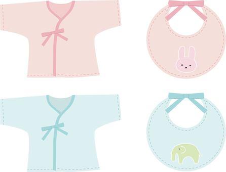 Baby clothes bib set