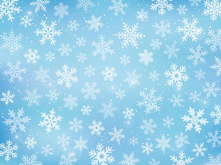 雪の結晶の背景素材(寒色系)