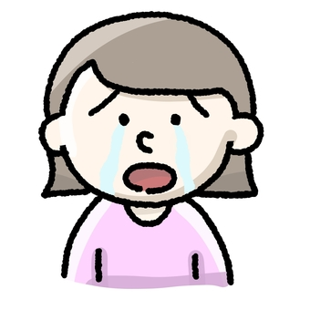 A woman who cries