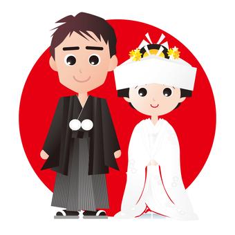 Japanese style wedding ceremony