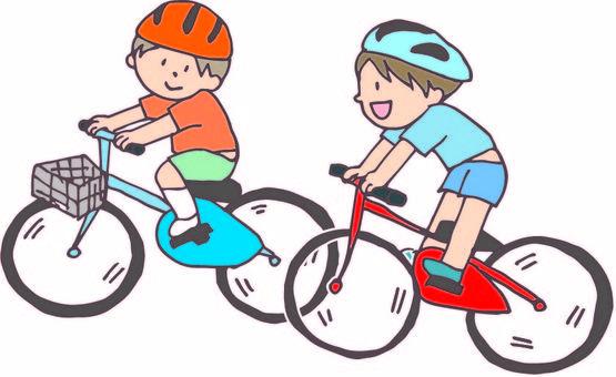 Boy riding a bicycle 2