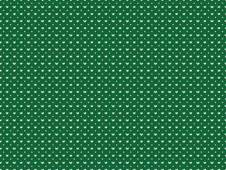 Hand-painted heart dot 2 · green