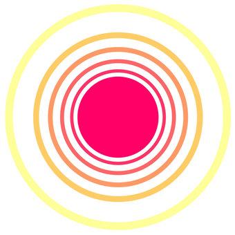 太陽陽光圖標日出圓圓框背景