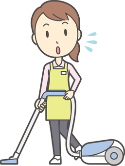 Home helper woman -289-whole body