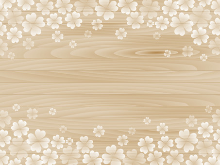 Clover pattern and grain background