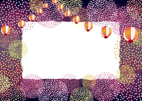Fireworks polka dot and lantern frame