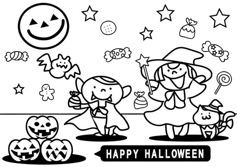 Coloring for Halloween for children