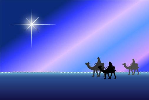 Nativity, road to Bethlehem